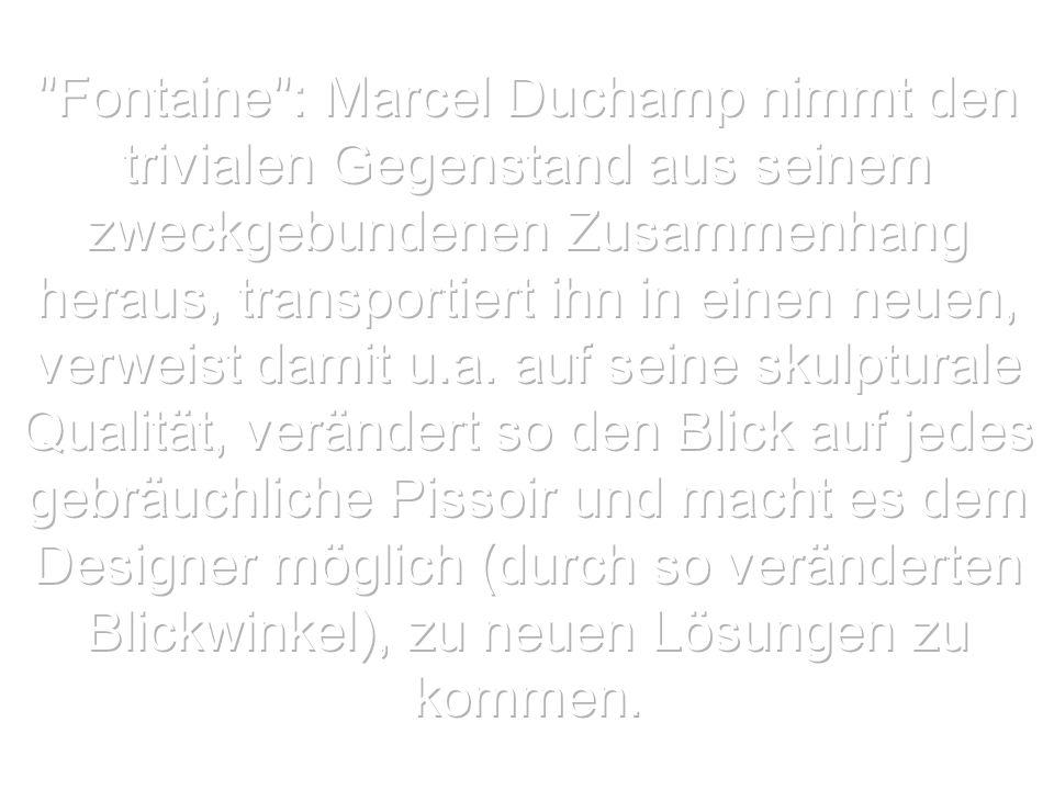 Fountaine von Marcel Duchamp