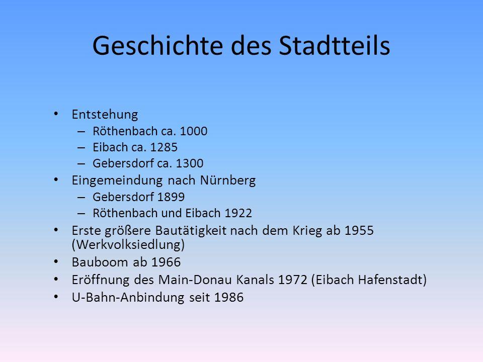 Geschichte des Stadtteils Entstehung – Röthenbach ca.