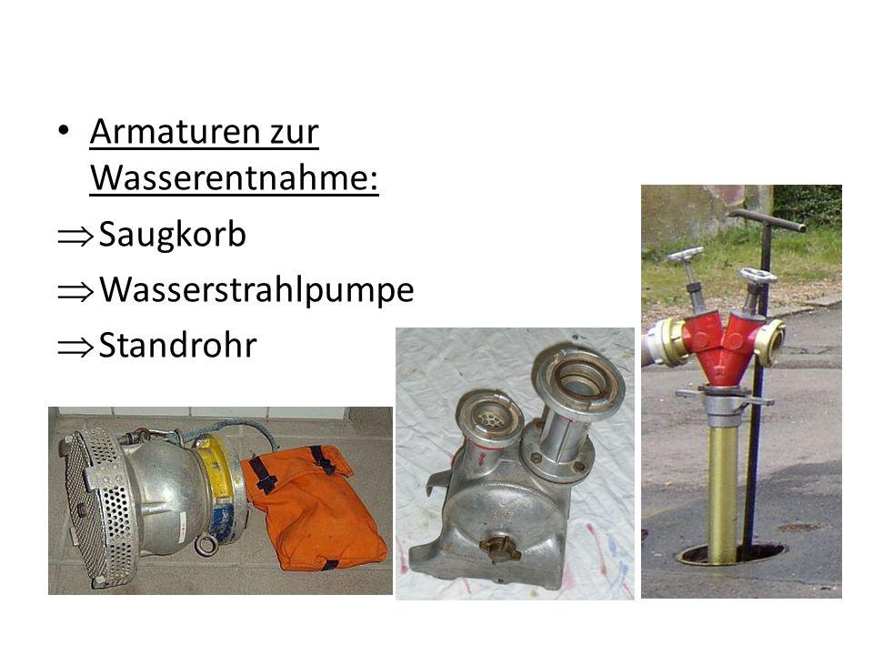 Armaturen zur Wasserentnahme: Saugkorb Wasserstrahlpumpe Standrohr
