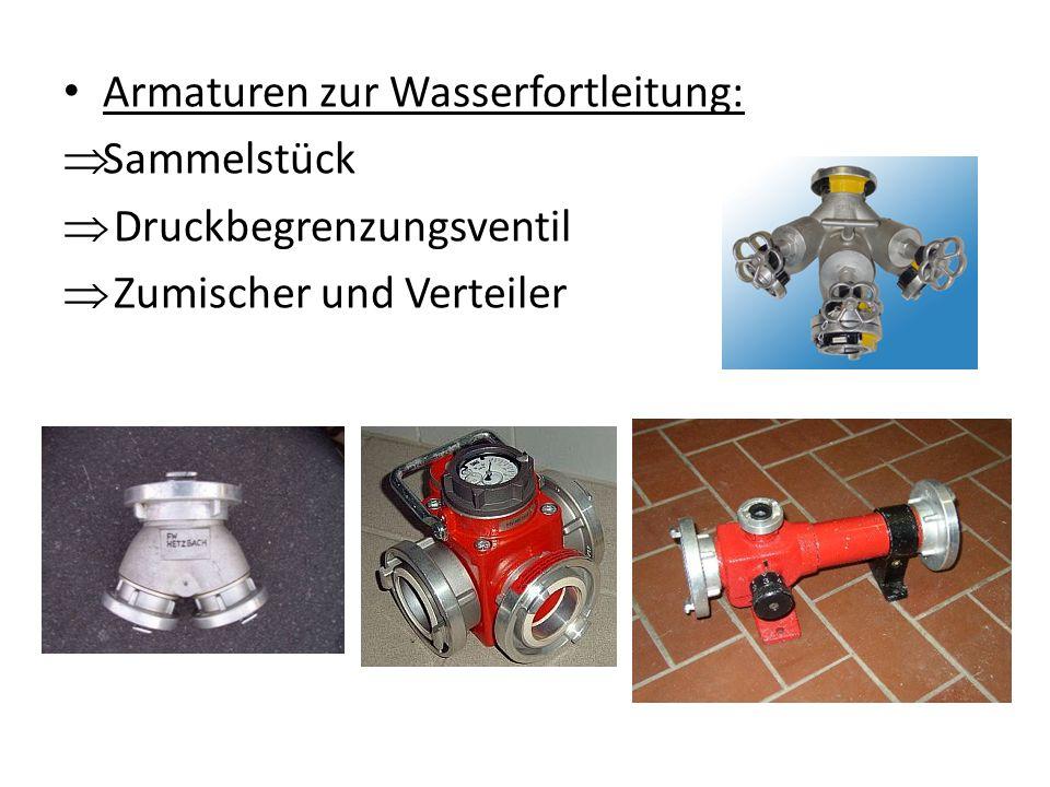 Armaturen zur Wasserfortleitung: Sammelstück Druckbegrenzungsventil Zumischer und Verteiler