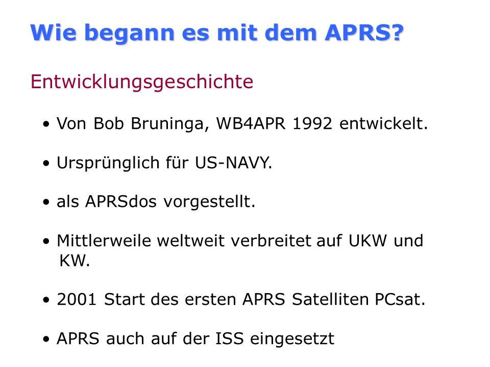 Selbstorganisation Es gelten grundsätzlich die internationalen Standards wie sie in der Spezifikation der APRS Working Group (TAPR) V.1.01 und den For