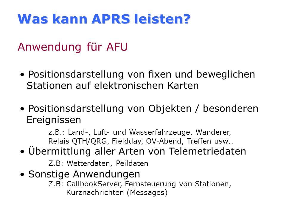 Wie begann es mit dem APRS? Entwicklungsgeschichte Von Bob Bruninga, WB4APR 1992 entwickelt. Ursprünglich für US-NAVY. als APRSdos vorgestellt. Mittle