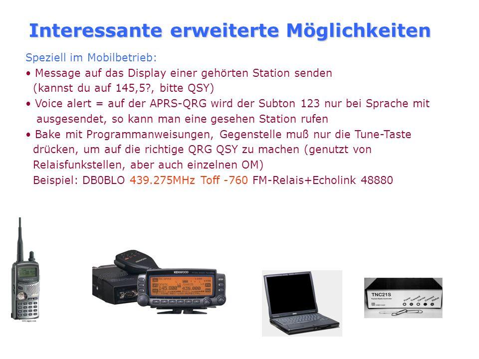 Wie werde ich schnell QRV? Teuerste Möglichkeit: Kauf eines Geräte mit APRS-Funktion beliebiges 2m-Gerät, Installation von UI-View32, als Modem: 1200-