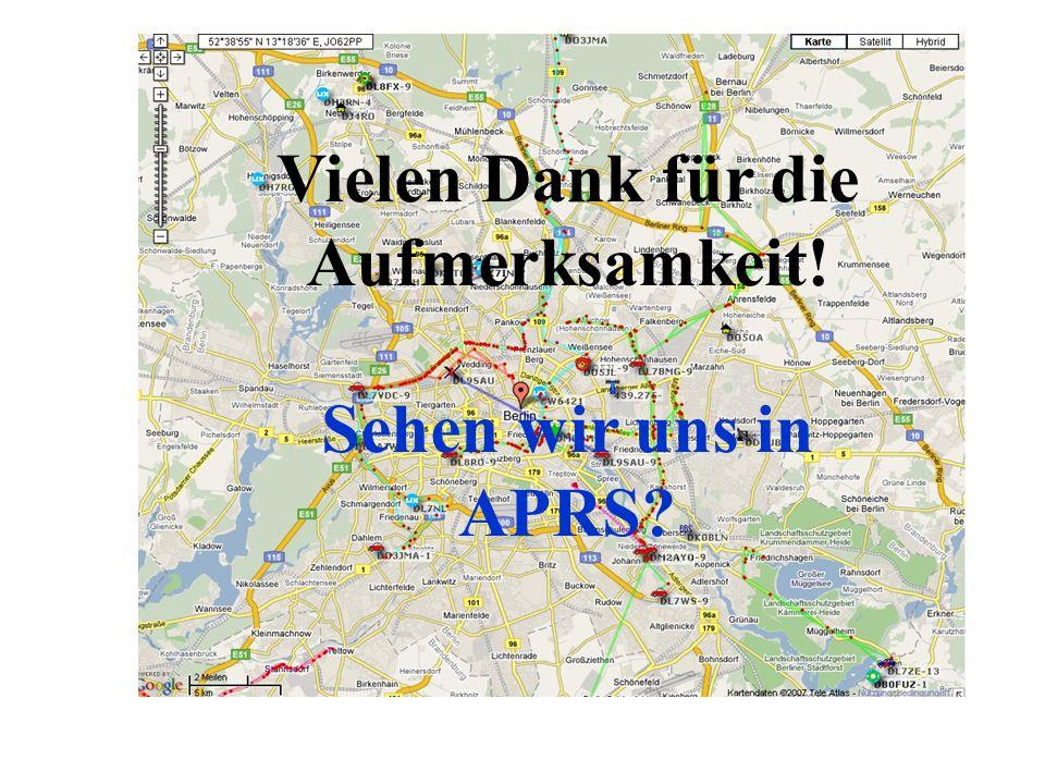 Impressum Quellen : APRS-Hamburg.DE APRS-BW.DE APRS-DL.DE Nachbearbeitung für regionale Bedürfnisse und Aktualisierung: DL8RO Stand 09/2009