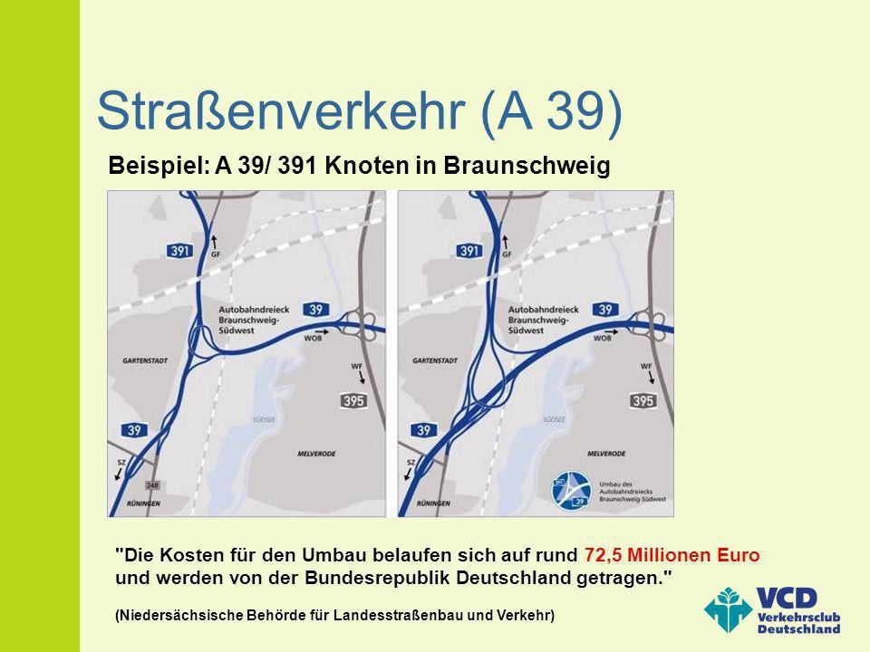 Straßenverkehr (A 39) Beispiel: A 39/ 391 Knoten in Braunschweig