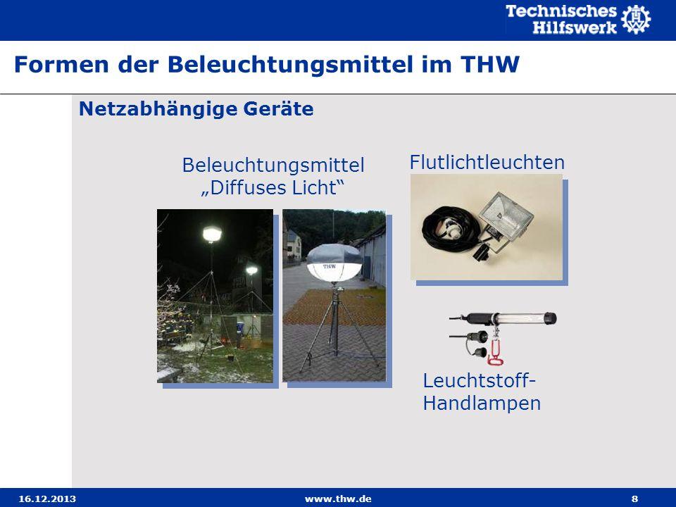 16.12.2013www.thw.de49 Leuchtstoff-Handlampe (Fluorex)