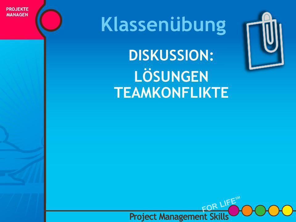 Projektteam - Diskussion BESPRECHUNG DER TEAMREGELN Wie oft trifft sich das Team (jede Woche, alle zwei Wochen, einmal im Monat)? Wer erstellt die Tag