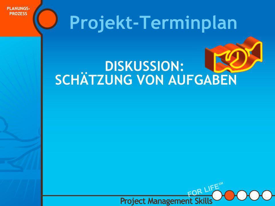 Projektterminplan Mit guter Planung kann der Projektmanager die Projektaufgaben und Ressourcen managen und steuern Um den Terminplan fertig zu stellen