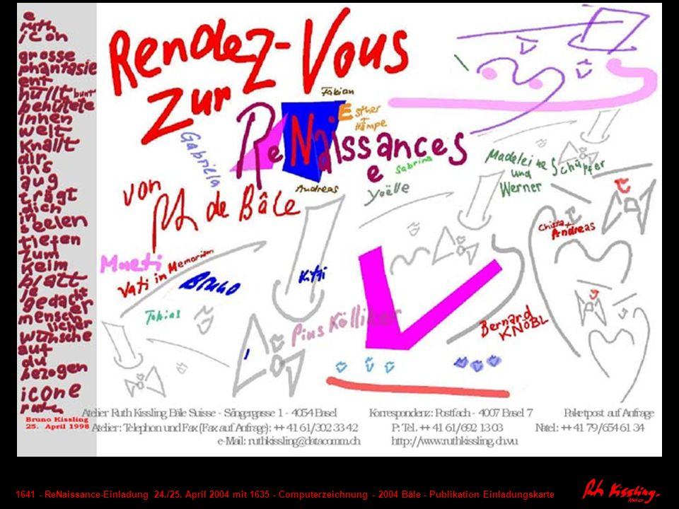 1728 - ReNaissance - Festtisch - Computer-Komposition - 2004 Basel