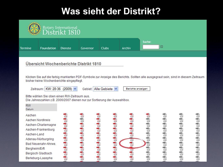 Was sieht der Distrikt?