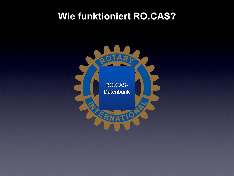 Wie funktioniert RO.CAS? RO.CAS- Datenbank