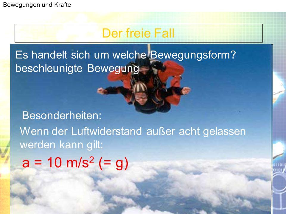 Bewegungen und Kräfte Anhalteweg Berechnung gleichförmige Bewegung verzögerte Bewegung Reaktionsweg = Bremsweg = Formel : V = s/t Umformen nach: s = V