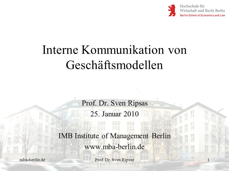 mba-berlin.deProf. Dr. Sven Ripsas12 Innovation