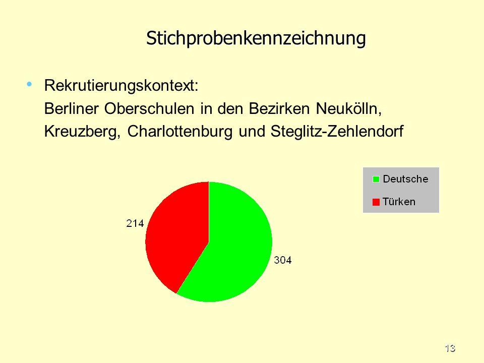 12Fragestellungen Welche Unterschiede lassen sich im konkreten Erziehungsverhalten türkischer und deutscher Eltern identifizieren? Welche Unterschiede