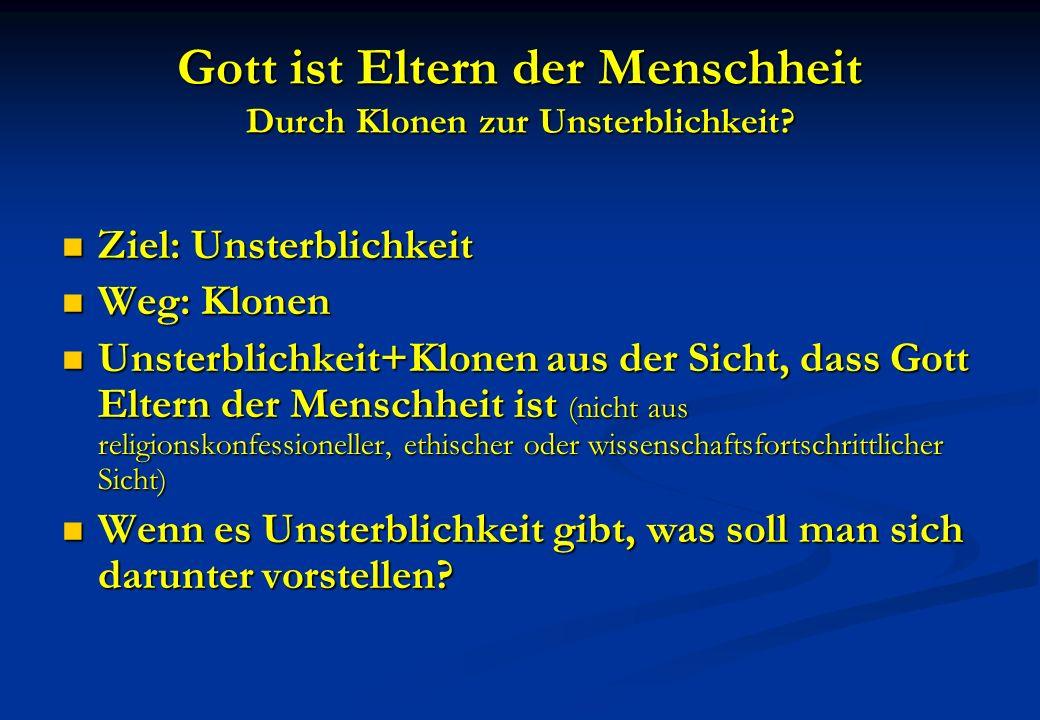 Anhang V.Zur Grundsubstanz des ewigen Lebens.