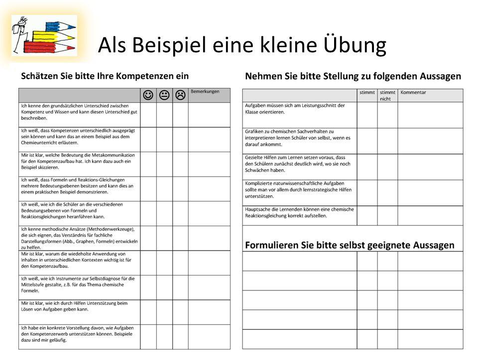 08.11.2011Dr. Lutz Stäudel * Leipzig31 Als Beispiel eine kleine Übung