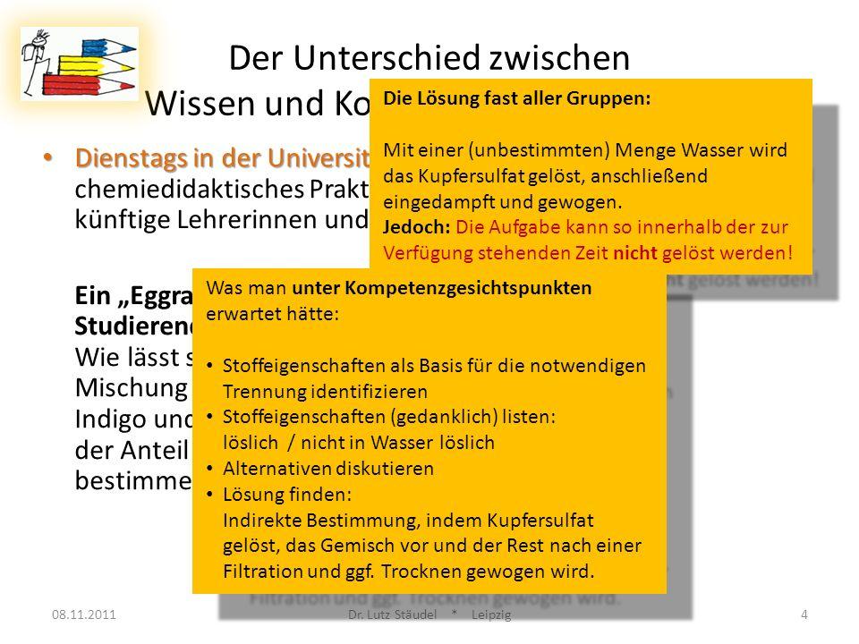 Arbeitsphase: 08.11.2011Dr.Lutz Stäudel * Leipzig35 Bilden Sie 4er Gruppen.