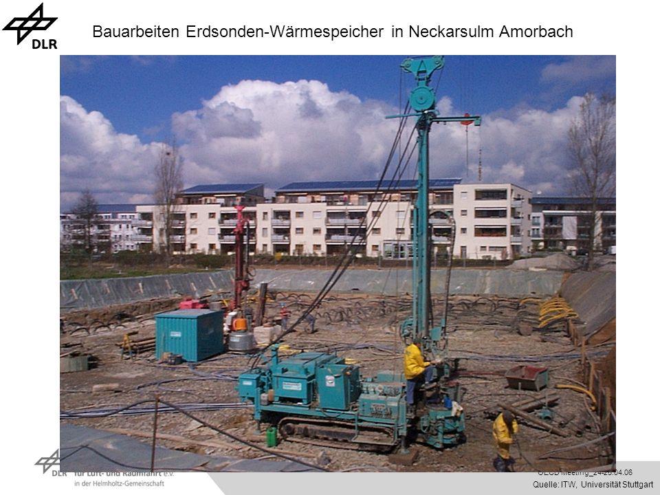 OECD Meeting_24-25.04.06 Bauarbeiten Erdsonden-Wärmespeicher in Neckarsulm Amorbach Quelle: ITW, Universität Stuttgart