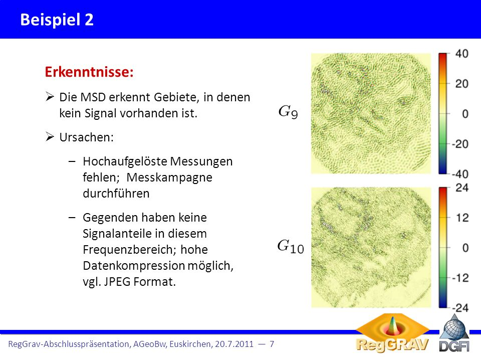 Kugelfunktionsdarstellung RegGrav-Abschlusspräsentation, AGeoBw, Euskirchen, 20.7.2011 6