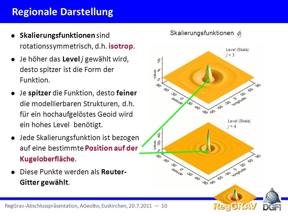 Regionale Darstellung RegGrav-Abschlusspräsentation, AGeoBw, Euskirchen, 20.7.2011 11