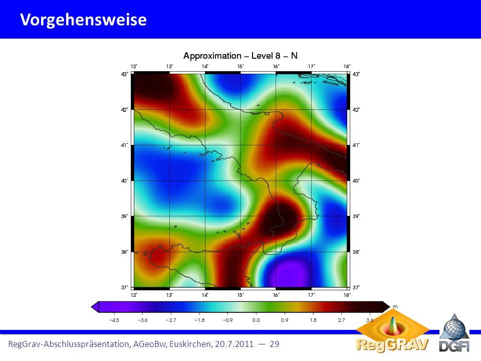 Vorgehensweise RegGrav-Abschlusspräsentation, AGeoBw, Euskirchen, 20.7.2011 29