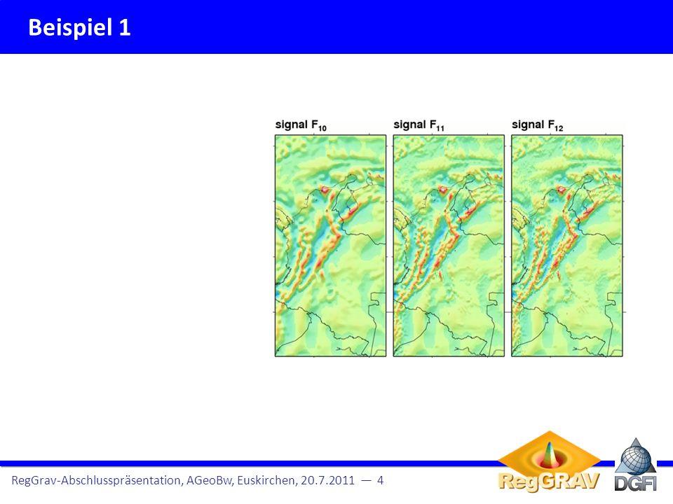 Beispiel 1 RegGrav-Abschlusspräsentation, AGeoBw, Euskirchen, 20.7.2011 4 [ mGal ]