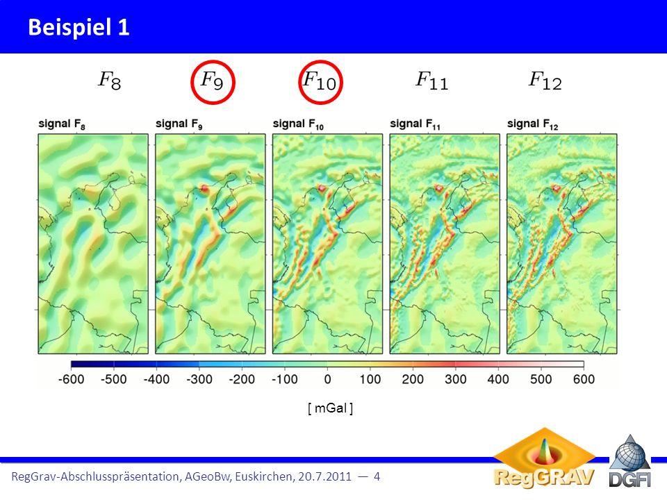 Beispiel 1 RegGrav-Abschlusspräsentation, AGeoBw, Euskirchen, 20.7.2011 5