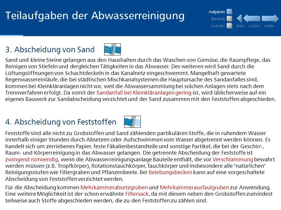 weiter zurückStart Nachklärbecken Nachklärbecken (Trichterbecken einer Kleinkläranlage) 1.