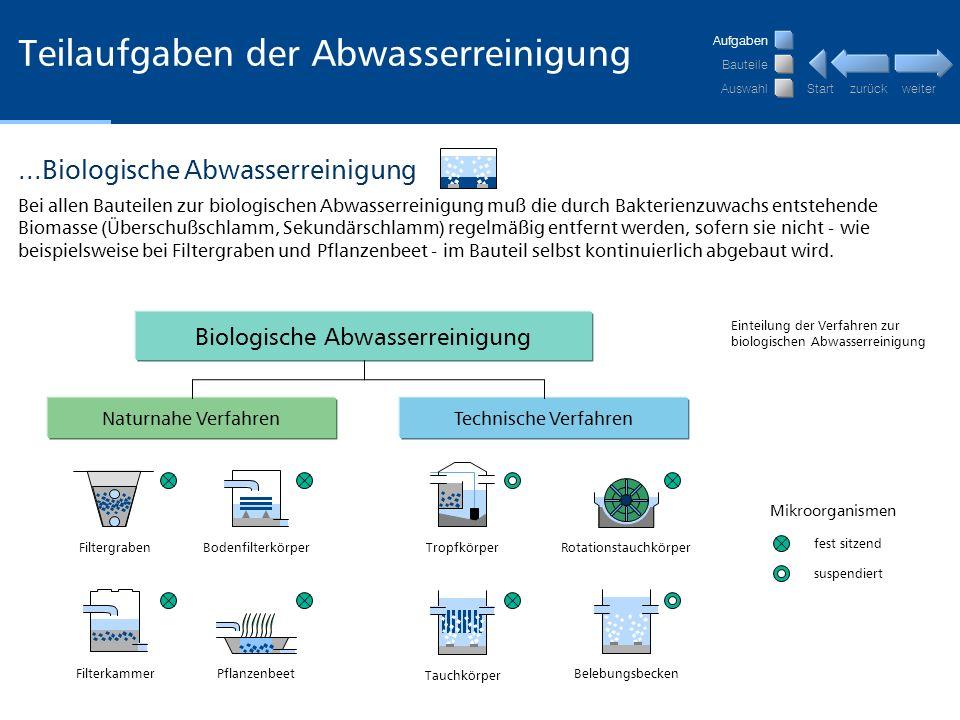weiter zurückStart Teilaufgaben der Abwasserreinigung 6.