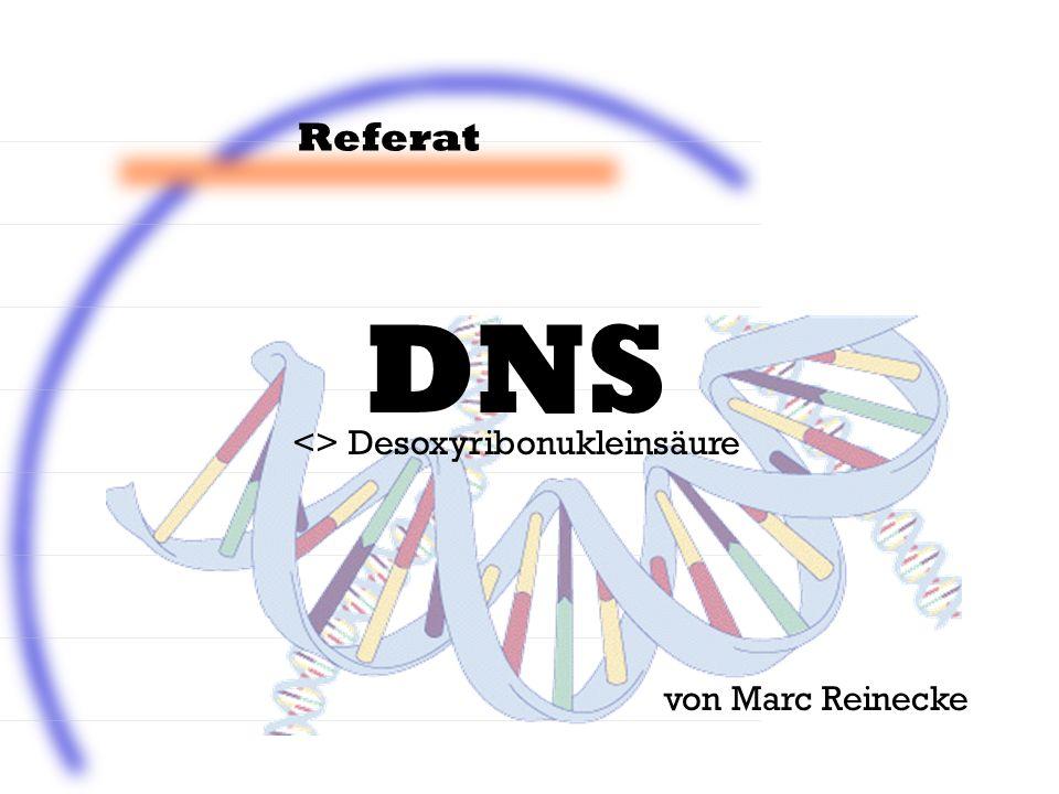 Referat von Marc Reinecke <> Desoxyribonukleinsäure DNS