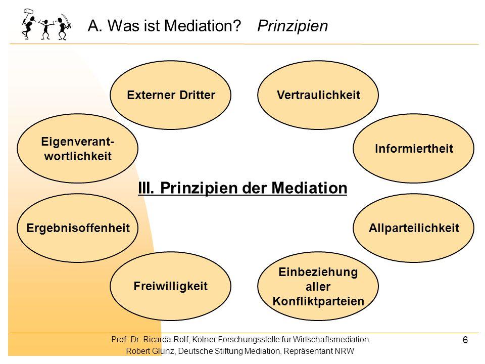 Prof. Dr. Ricarda Rolf, Kölner Forschungsstelle für Wirtschaftsmediation Robert Glunz, Deutsche Stiftung Mediation, Repräsentant NRW 6 Allparteilichke