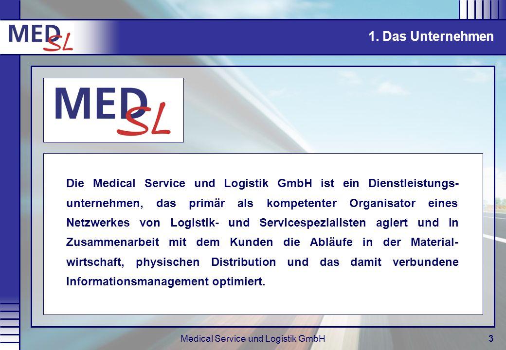 Medical Service und Logistik GmbH3 Die Medical Service und Logistik GmbH ist ein Dienstleistungs- unternehmen, das primär als kompetenter Organisator