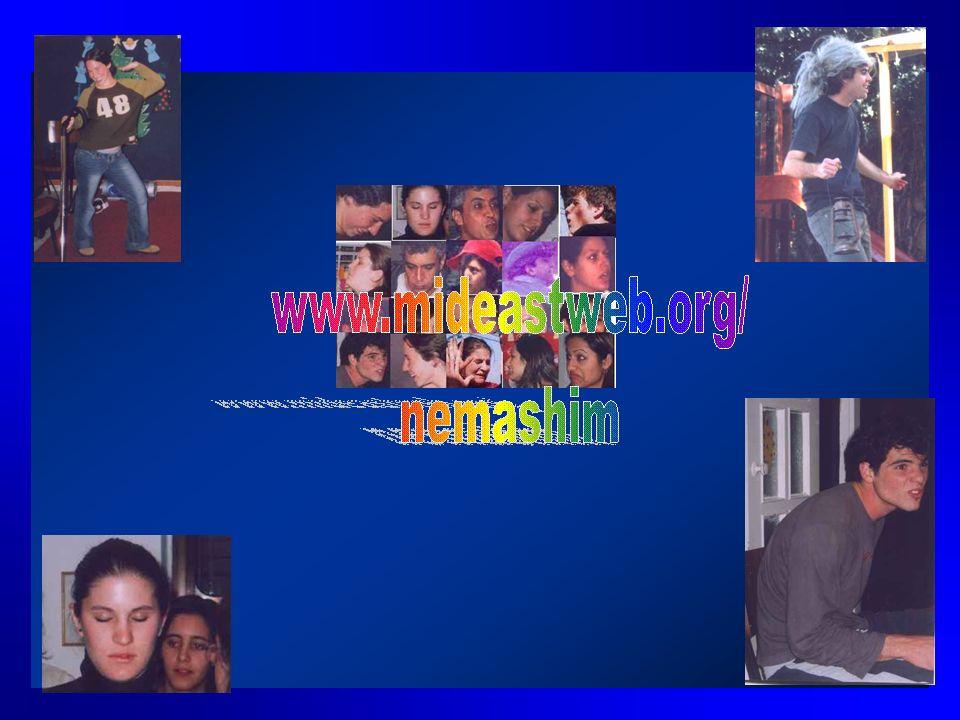 Besuchen Sie regelmaessig unsere website: www.mideastweb.org/nemashim Bitte schreiben oder telefonieren Sie oder schicken Sie uns ein e-mail: Uri SHAN