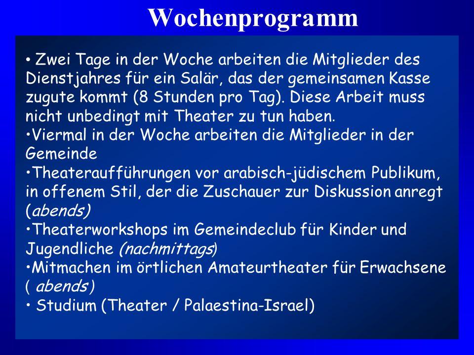 Ziele Kennenlernen von Jugendlichen der anderen Seite Theaterstudium für angehende TheaterstudentInnen Erfahrungen im Zusammenleben Verringerung von S