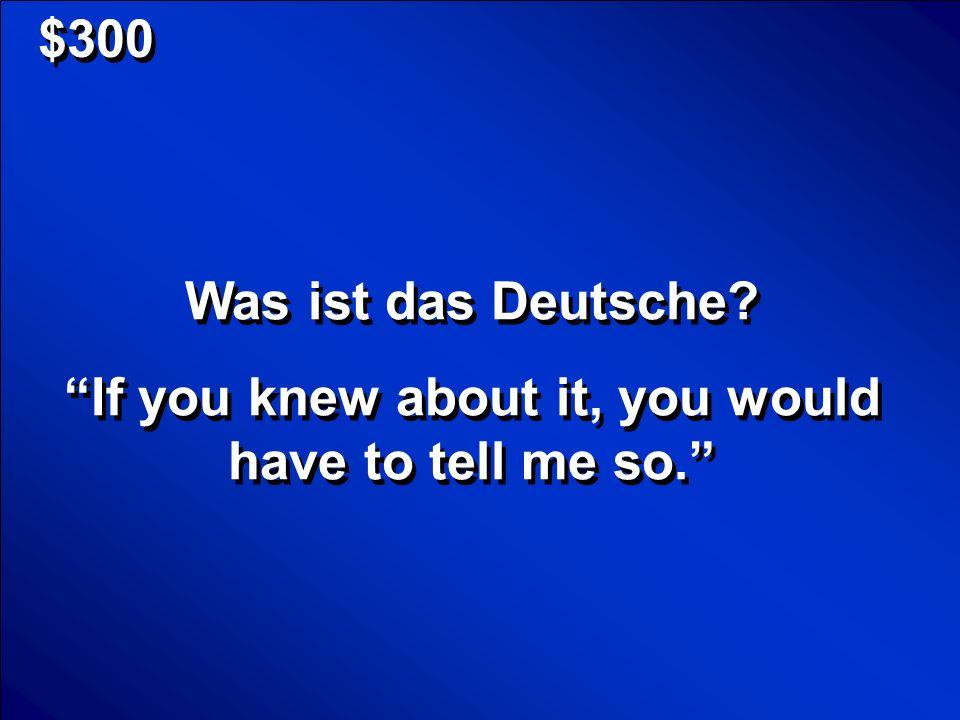 © Mark E.Damon - All Rights Reserved $300 Was ist das Deutsche.
