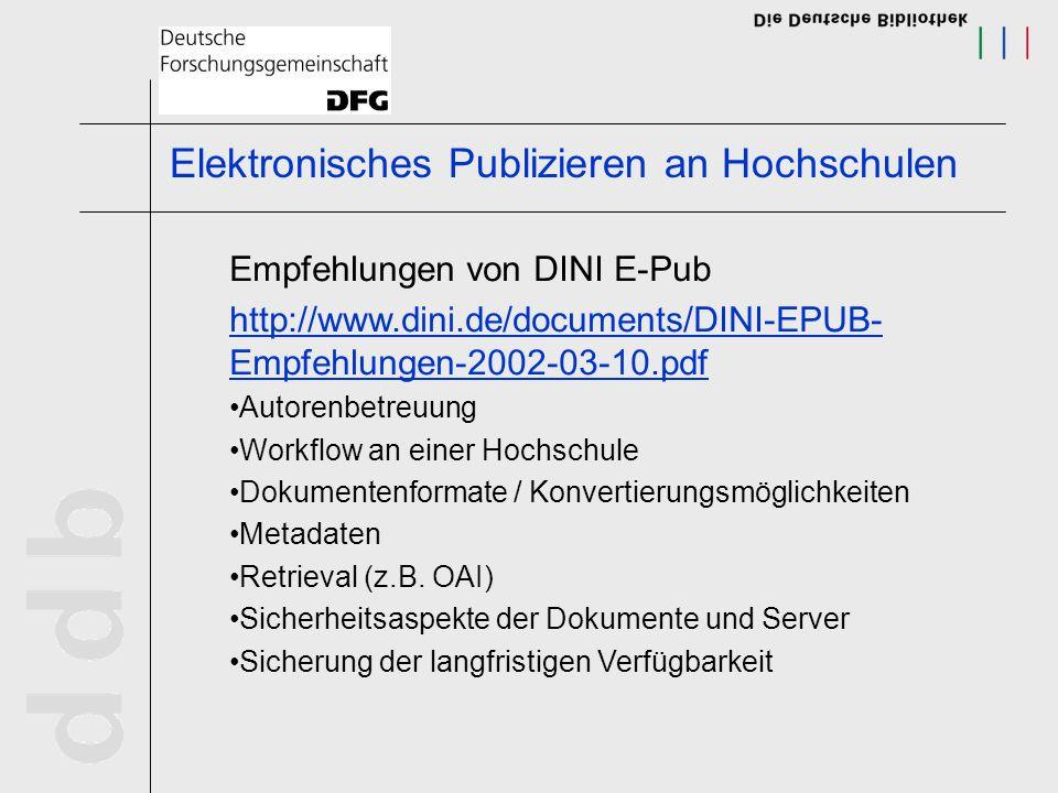Steigende Zahl von elektronischen Publikationen Probleme mit dem Uniform Resource Locator - Veränderung des Standortes - Zitierfähigkeit Verwendung von dauerhaften und eindeutigen Adressierungsverfahren für Online-Publikationen Persistent Identifier