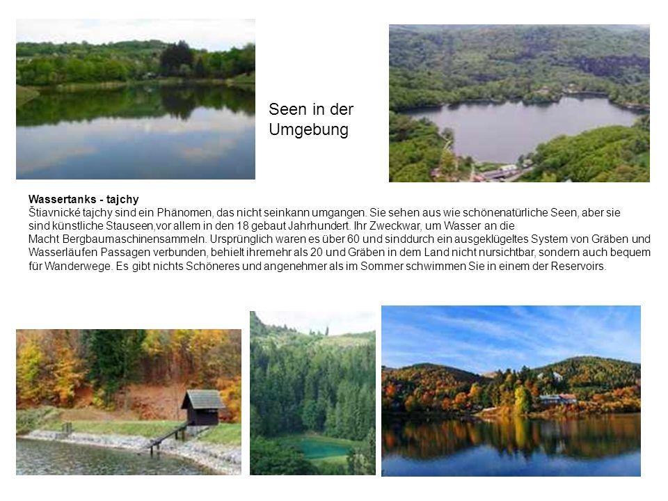 Seen in der Umgebung Wassertanks - tajchy Štiavnické tajchy sind ein Phänomen, das nicht seinkann umgangen. Sie sehen aus wie schönenatürliche Seen, a