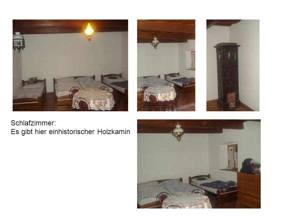Schlafzimmer: Es gibt hier einhistorischer Holzkamin