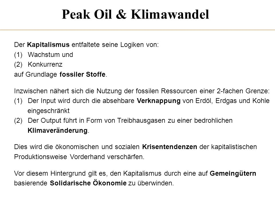 Peak Oil & Klimawandel 1.