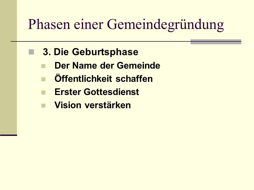 Phasen einer Gemeindegründung 3.