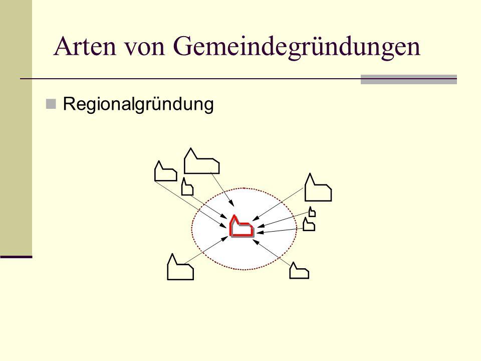 Arten von Gemeindegründungen Regionalgründung