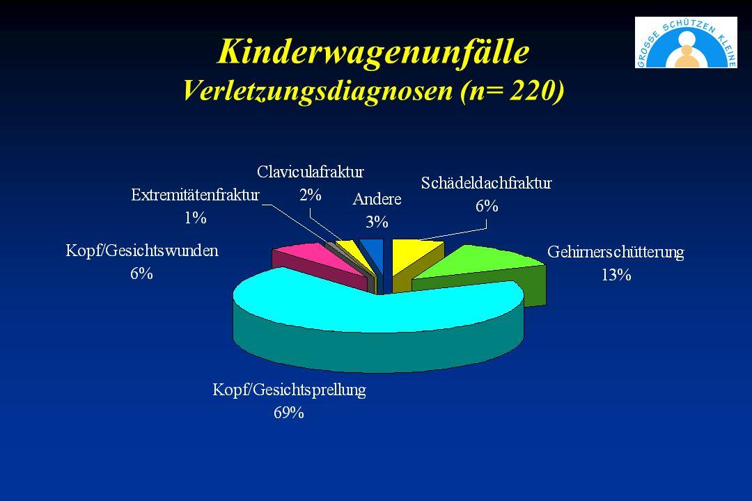 Kinderwagenunfälle Verletzungsdiagnosen (n= 220)