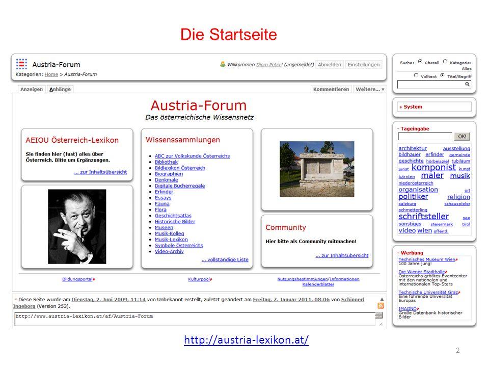 Die Startseite 2 http://austria-lexikon.at/