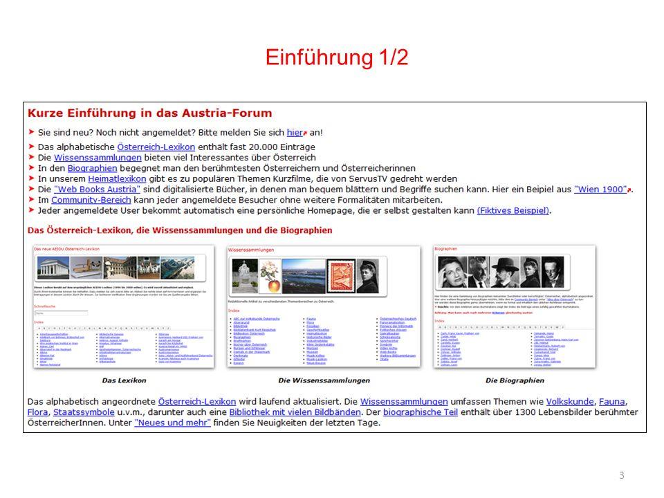 24 Weiterer Ausbau des Austria-Forums Erweiterung des Angebots an digitalisierten, interaktiven Büchern Ausbau der Suchfunktionen (Fuzzy-Suche, Suche in digitalen Büchern) Erleichterung der Bildung von eigenen Nutzergruppen (z.B.