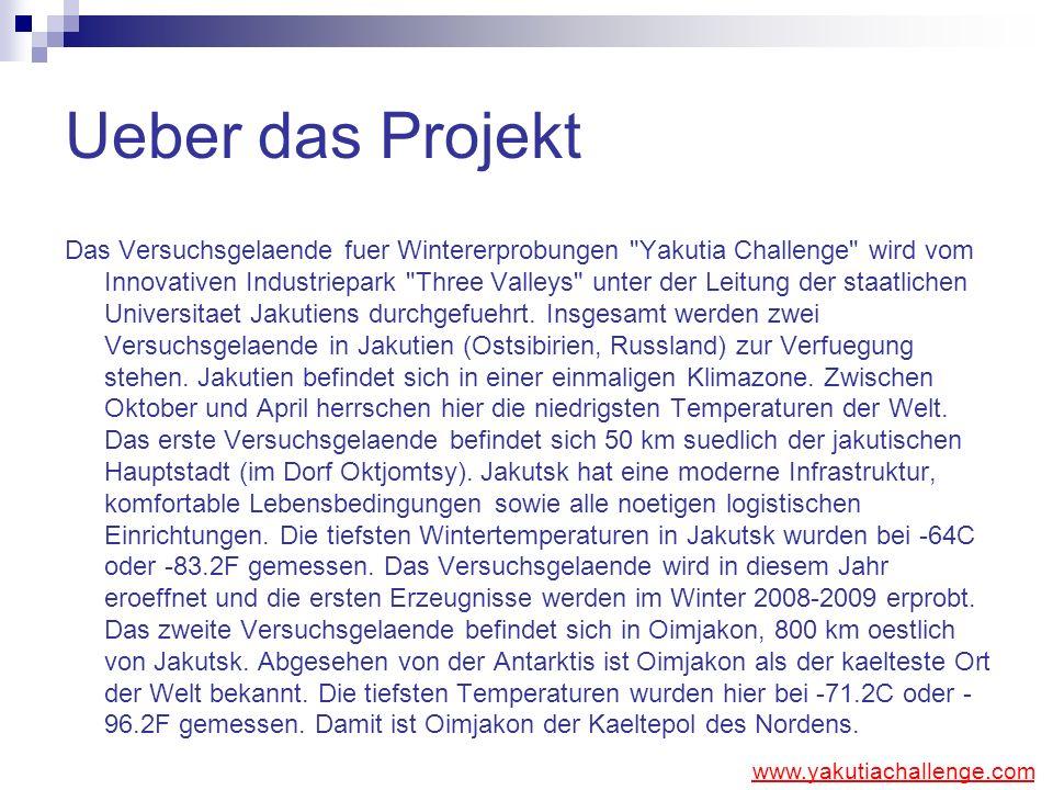 Ueber das Projekt Das Versuchsgelaende fuer Wintererprobungen