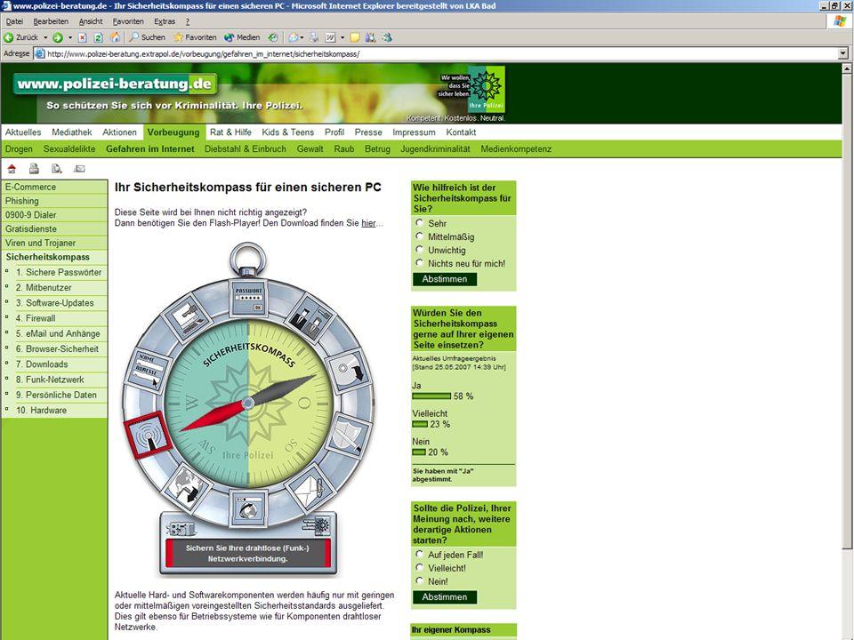 http://www.polizei-beratung.de Polizeiliche Kriminalprävention der Länder und des Bundes Safety Compass