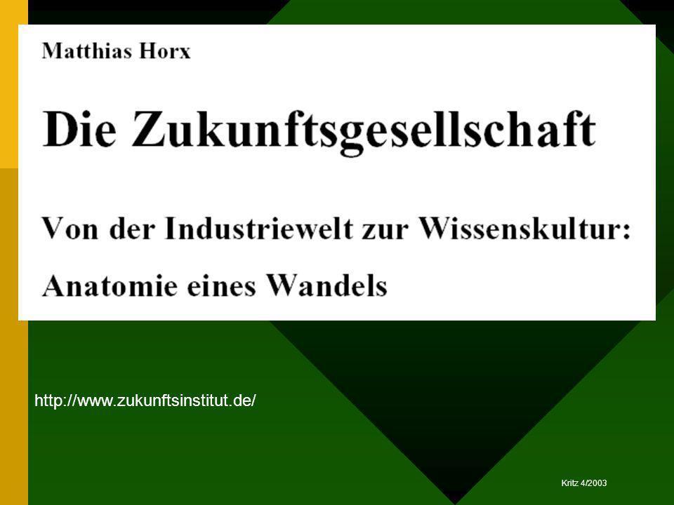 Kritz 4/2003 http://www.zukunftsinstitut.de/