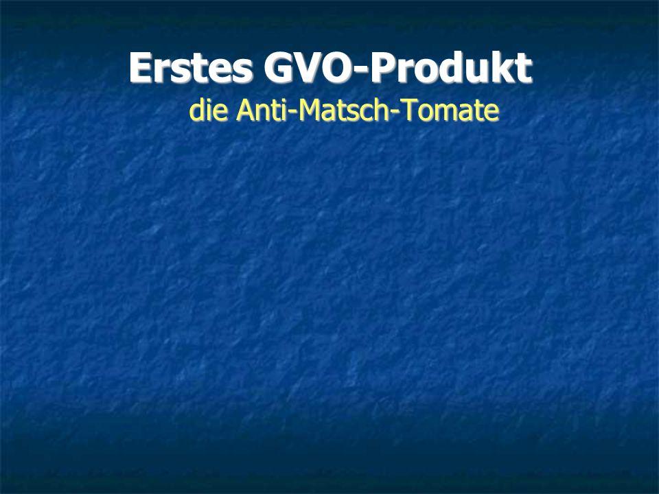 Erstes GVO-Produkt die Anti-Matsch-Tomate