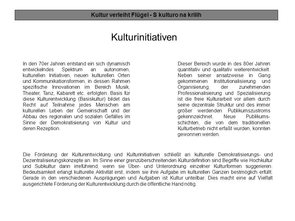 Sendungsgestaltung / Journalismus Kultur verleiht Flügel - S kulturo na krilih