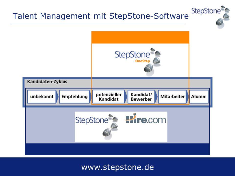 www.stepstone.de Talent Management mit StepStone-Software